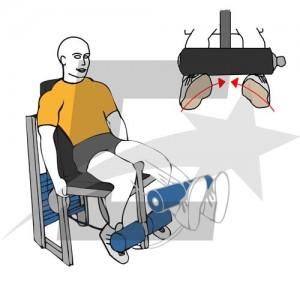 extension de piernas pies hacia dentro